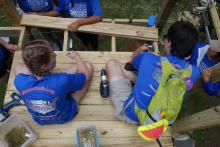 Building a handicap ramp