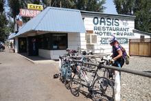 Oasis motel, RV park, and restaurant.