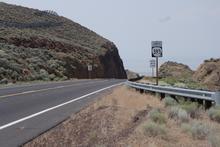 Road cut through the hill