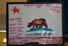 Bear on the morning whiteboard