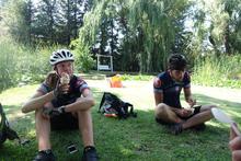 Ice cream in the shade