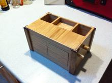 The completed box, in its pretty polyurethane polish.
