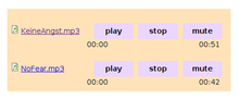Themed player. All buttons are inline, nicely spaced, and hidden when inactive.