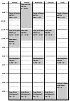 My schedule for this semester!