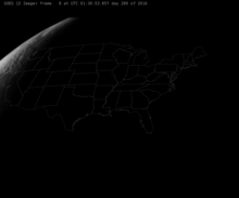 The US, as seen by GOES-East