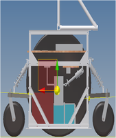The robot, in profile.